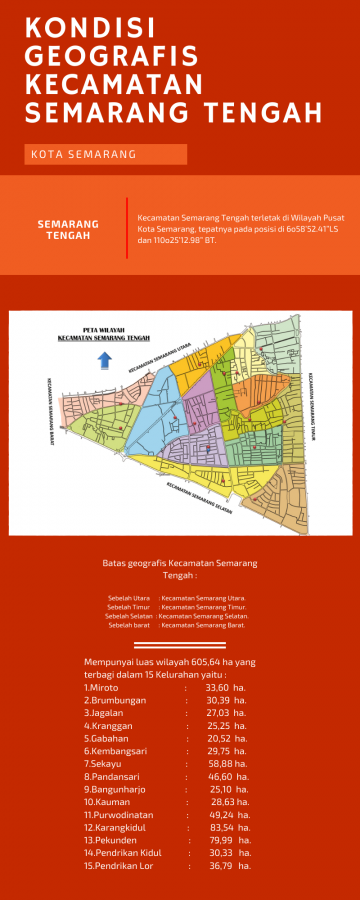 Kondisi Geografis Daerah Kecamatan Semarang Tengah